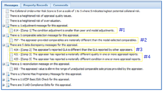 Collateral Underwriter Example Appraisal Message
