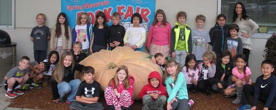 Giant Pumpkin at Spring Mountain Elementary School